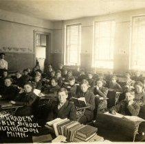 "Image of Postcard - Hutchinson Public School, Grade 8 ""A"", 1910"