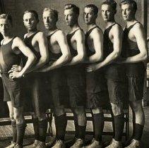 Image of Postcard - 1915 Senior Basketball team, Hutchinson, MN