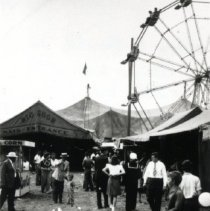 Image of Print, Photographic - Main Entrance to the Big Show (Jay Gould Circus)
