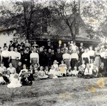 Image of Print, Photographic - Evangelical Church picnic, Lester Prairie, 1914