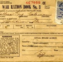 Image of Book, Ration - WWII ration book-Colleen Kay Coleman