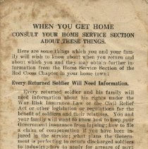 Image of Booklet - When You Get Home, WWI