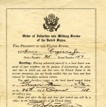 Image of Orders, Military - Induction papers-Louis J. Ruzicka, Jr.