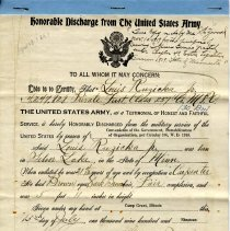 Image of Orders, Military - Discharge papers-Louis J. Ruzicka, Jr.