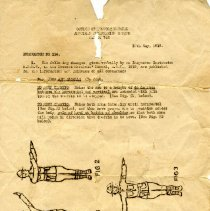 Image of Document - Military Police instruction memo, World War I