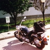 Image of Print, Photographic - Vince Holmes' motorcycle, 2003