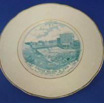 Image of Plate, Commemorative - Crow River & Dam plate