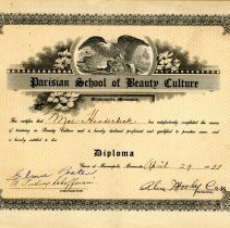 Image of Diploma - Parisian School of Beauty Culture diploma-Mae Hoodecheck