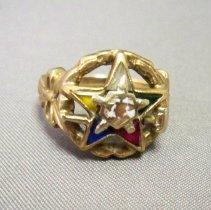 Image of Ring, Fraternal - Order of Eastern Star ring-Irma Klawitter