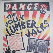 Image of Poster - Jolly Lumber Jacks poster, 1961 Ranzau/Urban wedding dance