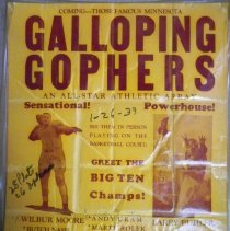 Image of Poster - Poster: Plato Red Sox vs. Galloping Minnesota Gophers, 1939