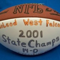 Image of Football - Commemorative football: 2001 McLeod West State Champs