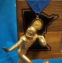 Image of Trophy: 2001 State A Champion McLeod West -detail