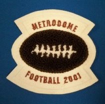 Image of Badge, Insignia - Metrodome 2001 Football patch-McLeod West