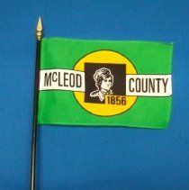 Image of Flag - McLeod County desk flag