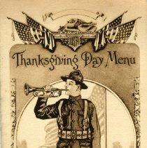 Image of Menu - 1918 Thanksgiving Menu, Camp Hancock, GA
