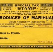 Image of Document - Marihuana grower tax stamp, 1944