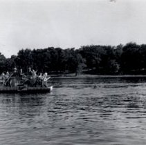 Image of Print, Photographic - 1941 Hutchinson Water Carnival boat parade