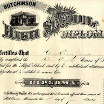 Image of Diploma - HHS Diploma-Anna Elvera Johnson, 1910