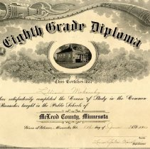 Image of Eighth Grade Diploma, Lillian Makousky, 1920