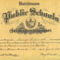 Image of Certificate, Achievement - Certificate of Attainment