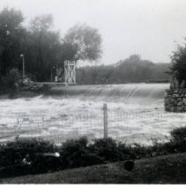 Image of Print, Photographic - Crow River Dam, Hutchinson, 1943