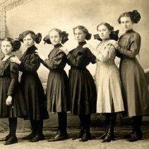 Image of Print, Photographic - 1911 Hutchinson Eighth grade girls