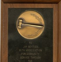 Image of Plaque: Jay Beytien, Hutchinson Chamber, 1966-68