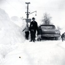 Image of Print, Photographic - Snow banks March, 1965