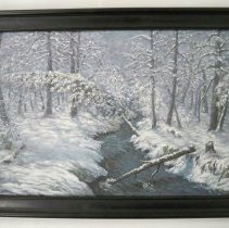 "Image of Painting - ""Winter Moonlight""-Nellie B. Pendergast"