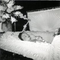 Image of Print, Photographic - Ruth Mathews in coffin