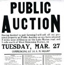 Image of Poster - Auction poster: Ed. Kottke