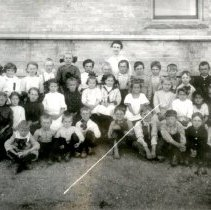 Image of Print, Photographic - Plato Public School students, 1913