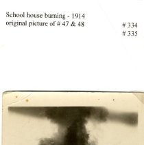 Image of Plato Public School fire, 1914