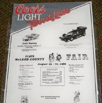 Image of Poster - McLeod County Fair poster, 1986