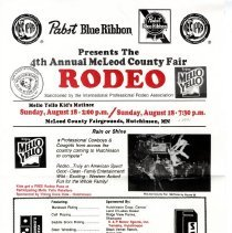 Image of Poster - McLeod County Fair Rodeo poster, 1991