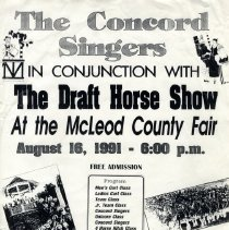 Image of Poster - McLeod County Fair, 1991