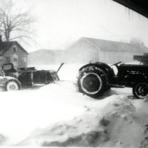 Image of Print, Photographic - 1940 snow storm, Main Street, Plato, MN.