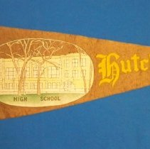 Image of Pennant - Hutchinson High School pennant, c. 1915