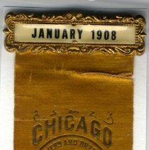 Image of Ribbon, Prize - National Fanciers & Breeders gold ribbon, 1908