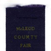 Image of Ribbon, Prize - McLeod County Fair ribbon, 1911