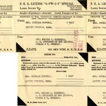 Image of Label, Shipping - POW shipping labels
