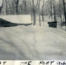 "Image of Gaines log cabin ""Fort"" at Lake Marion"