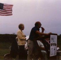 Image of Print, Photographic - White Family Monument dedication