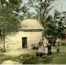 Image of Print, Photographic - Patrick Dooley & Ellen Kenney Dooley family & farm, 1899