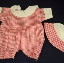 Image of Clothing, Doll - Doll romper & cap