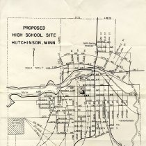 Image of Map - Proposed Hutchinson HS site map, c.1959