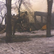 Image of Print, Photographic - Merrill School Fire, March, 1975