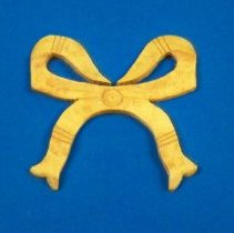 Image of Wooden ribbon bow