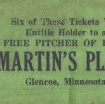 Image of Ticket - Martin's Place ticket